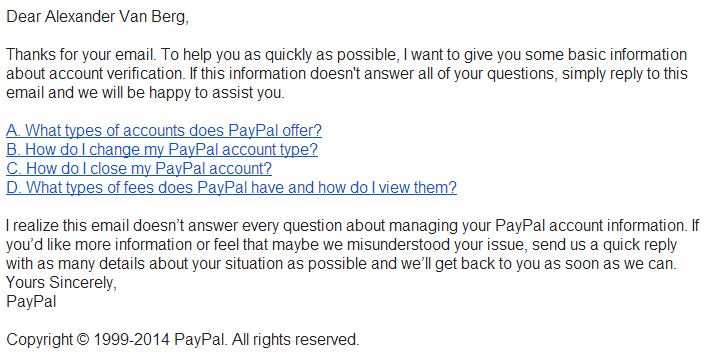 paypal automated pushback