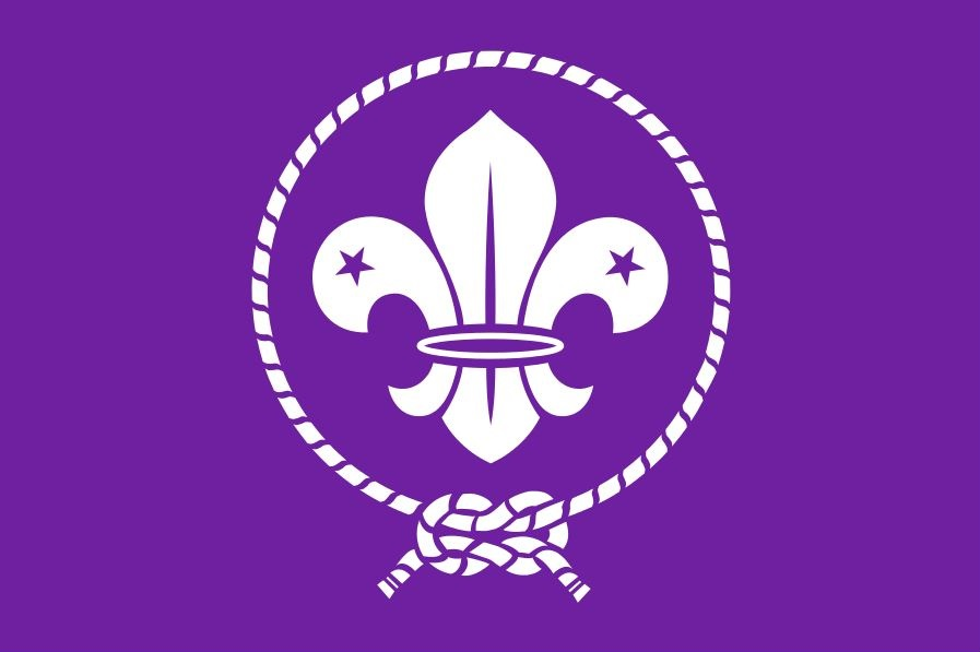 Flag of the World Organization of the Scout Movement.  Logo Copyright ©  Boy Scouts of America.