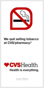"New CVS marketing campaign.  This was a ""skyscraper"" ad I saw recently."