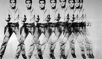 Eight Elvises by Andy Warhol, 1963.  In 2008, it was sold for $100 million to a private collector, making it the 16th most expensive painting ever sold, adjusting for inflation. www.en.wikipedia.org/wiki/List_of_most_expensive_paintings