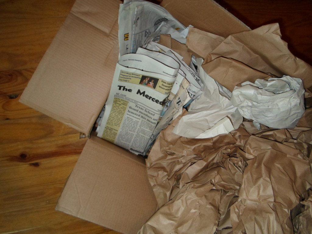 Newspapers and Packing Materials