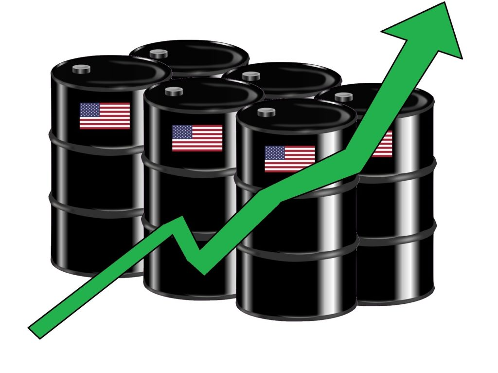 America's new export and financial lifeblood: Oil. (Oil barrel graphic courtesy of Bear17, Creative Commons Attribution-Share Alike 4.0 International License.)