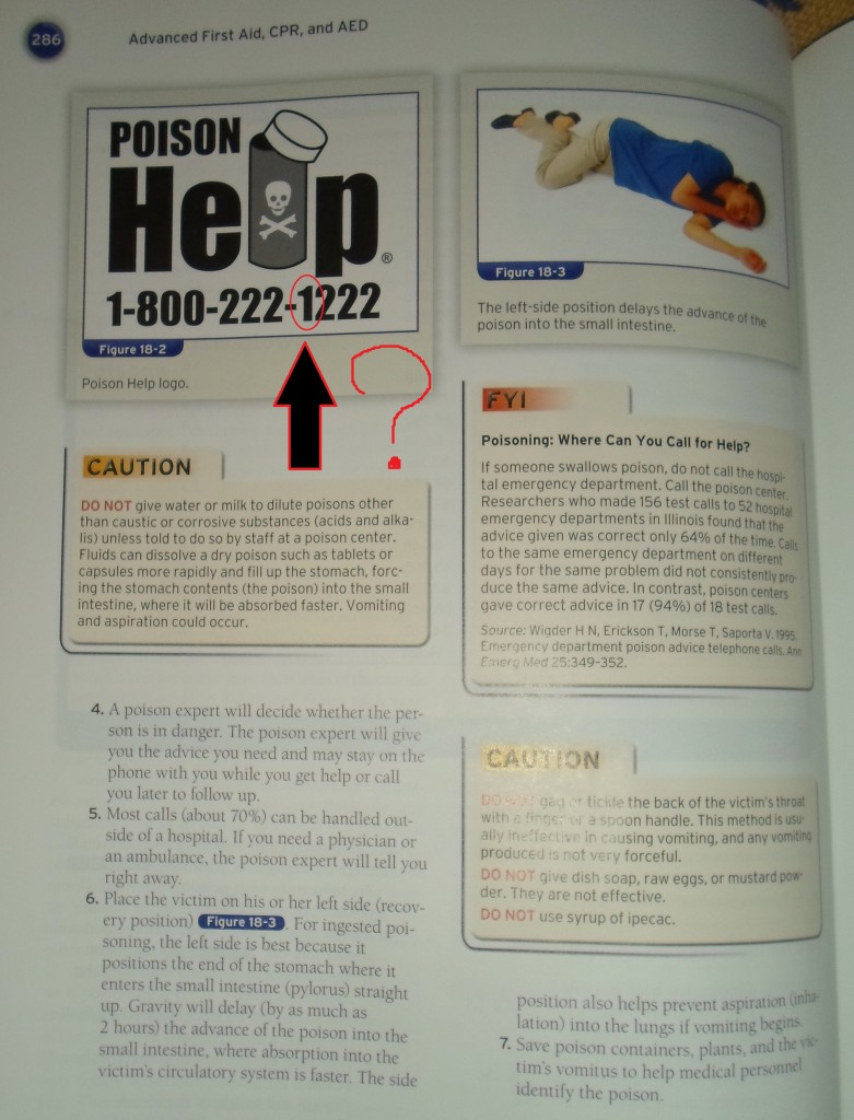 Page 286 of First Aid, CPR and AED Advanced, Sixth Edition.